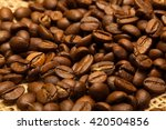 roasted coffee beans background | Shutterstock . vector #420504856
