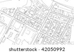 part of urban plan of a city | Shutterstock .eps vector #42050992