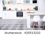 new modern kitchen interior | Shutterstock . vector #420513232