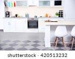 new modern kitchen interior | Shutterstock . vector #420513232