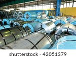 rolls of steel sheet in a... | Shutterstock . vector #42051379