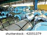 rolls of steel sheet in a...   Shutterstock . vector #42051379