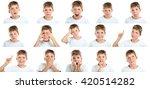 portrait of emotional little... | Shutterstock . vector #420514282