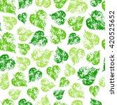 seamless vector pattern herbal... | Shutterstock .eps vector #420525652