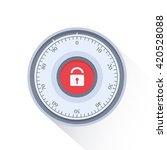 combination safe lock... | Shutterstock .eps vector #420528088