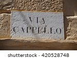Street Plate Of Via Cappello In ...