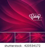 curvy abstract background. each ... | Shutterstock .eps vector #420534172