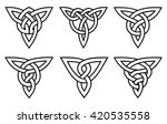 celtic knot set   Shutterstock .eps vector #420535558