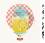 vector picnic icon in flat... | Shutterstock .eps vector #420537046