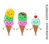 set of vector illustration of... | Shutterstock .eps vector #420540076