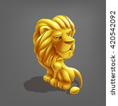 reward cartoon golden lion....