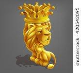 reward cartoon golden lion with ...