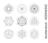 sacred geometry symbol set.... | Shutterstock .eps vector #420546502