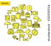 travel icon vector set of... | Shutterstock .eps vector #420550516