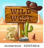 wild west computer game... | Shutterstock .eps vector #420553816