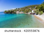 beach in milina village  pelio  ... | Shutterstock . vector #420553876
