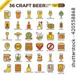 craft beer pixel perfect... | Shutterstock .eps vector #420558868