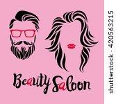 beauty saloon logo  man and...   Shutterstock .eps vector #420563215