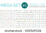 Logo mega collection - wave business logotypes | Shutterstock vector #420569236