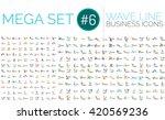 logo mega collection   wave... | Shutterstock .eps vector #420569236