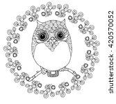 kawaii zentangle owl in a ... | Shutterstock .eps vector #420570052