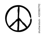 peace symbol icon vector... | Shutterstock .eps vector #420580792