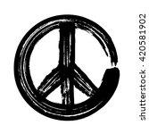 peace symbol icon vector... | Shutterstock .eps vector #420581902