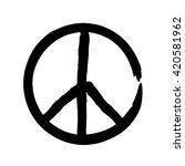peace symbol icon vector... | Shutterstock .eps vector #420581962