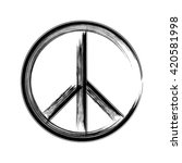 peace symbol icon vector... | Shutterstock .eps vector #420581998