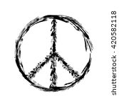 peace symbol icon vector... | Shutterstock .eps vector #420582118