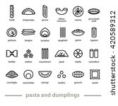 Pasta And Dumplings Icons....