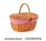 Picnic Basket  Isolated On...