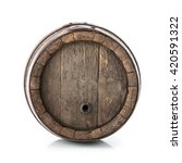 Old Oak Barrel Isolated On...