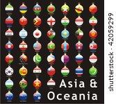 fully editable isolated asian... | Shutterstock .eps vector #42059299