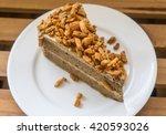 a piece of delicious almond...   Shutterstock . vector #420593026
