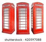 Classic British Red Phone Booth....