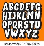 comic vector alphabet | Shutterstock .eps vector #420600076