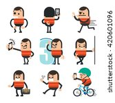 set of human character poses ... | Shutterstock .eps vector #420601096