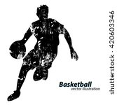 silhouette of a basketball... | Shutterstock .eps vector #420603346