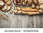 freshly baked delicious bread... | Shutterstock . vector #420604306