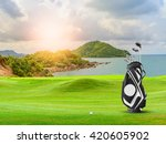 Golf Equipment On Green And...