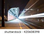 Long Exposure Of Train Passing...