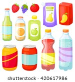 drinks and soda bottle set.... | Shutterstock .eps vector #420617986