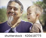 father and son | Shutterstock . vector #420618775