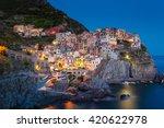 manarola  one of the five... | Shutterstock . vector #420622978