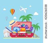 travel concept illustration in...   Shutterstock . vector #420626038
