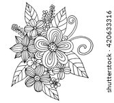 Coloring Page With Doodle...