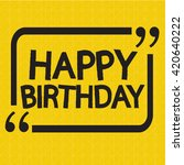 happy birthday illustration... | Shutterstock .eps vector #420640222