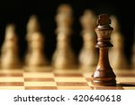 chess pieces and game board... | Shutterstock . vector #420640618