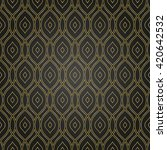seamless vector golden pattern.